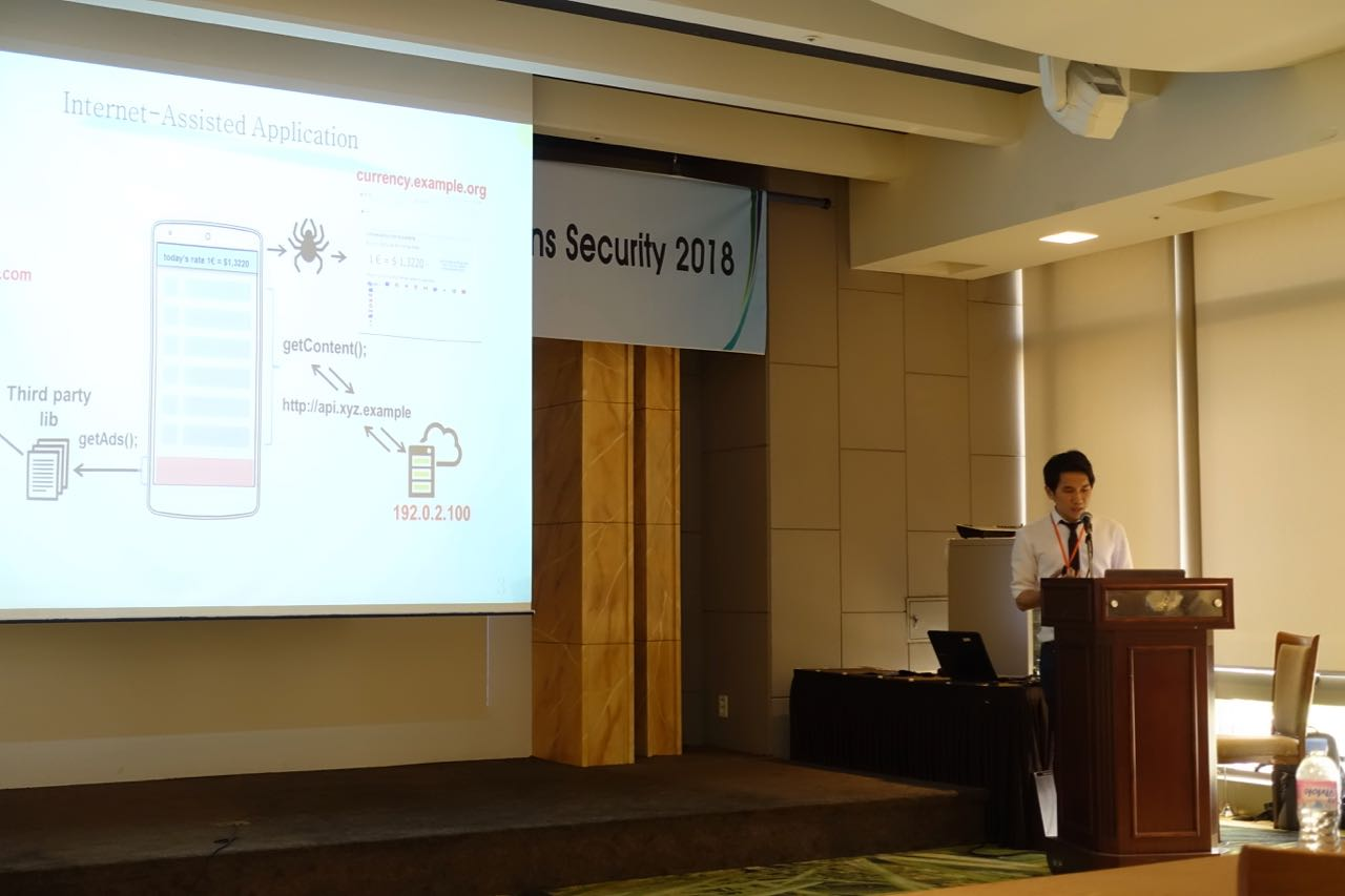 Elkana presented a talk at AsiaCCS | Network Security Laboratory
